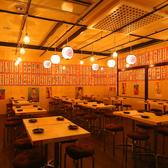 最大108席の広々とした空間は各種宴会に最適。