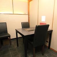 2名様からご利用可能な個室を完備!