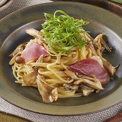 【9・10月限定】京都産九条ネギと鴨のきのこバター醤油パスタ