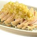 料理メニュー写真バンバンジー/鶏肉のネギ油ソース和え