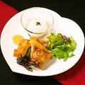 料理メニュー写真生ハム ラタトゥイユのルーロプランタン 温玉添え(1本)