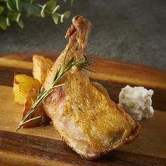 料理メニュー写真若鶏のコンフィ リコッタチーズ
