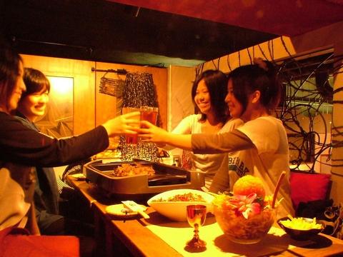 大人気♪女子会コースが3500円で全オーダー頼み放題!!さらに、日~木は2.5時間!