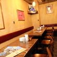 15名用のテーブル席は小宴会にどうぞ。テーブルをつなげれば40名様まで使用可能です。