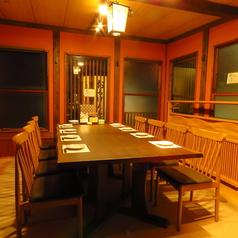 一番奥のお座敷席。8名様テーブル個室で、最大12名様貸し切りOK。奥にあるので気兼ねなくおくつろぎいただけます♪