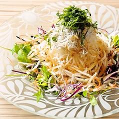 野菜としらすの大根サラダ