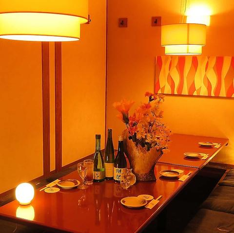 市場から直送の鮮魚や、こだわりの創作料理が愉しめる★大小さまざまな個室を完備♪