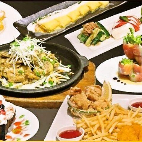 【80種類以上!】全品食べ飲み放題3時間付き3800円コース!