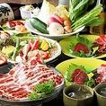 【雅(みやび)コース】しゃぶしゃぶorすき焼き+飲み放題付 10000円(税抜)