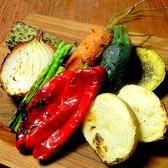 宮野さんの野菜をじっくりと焼き上げました。熱々のバーニャカウダソースで!