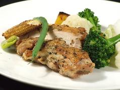 鶏肉のロースト 季節の野菜添え