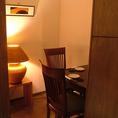 1室限定で2名様用の個室もご用意!カップルのデート、接待におススメ。