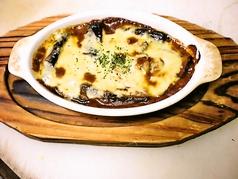 ナスのカレー風チーズ焼き