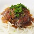 料理メニュー写真薩摩地鶏の特ももタタキ『極上 さつま知覧どり』