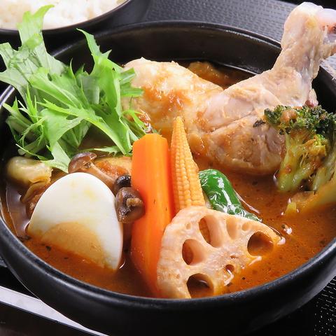 ロケーション抜群♪選べるスープと辛さでお好みのスープカレーを召し上がれ!