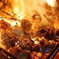 『大阿蘇鶏のもも炙り焼き』 備長炭使用の炙り焼き鳥!当店の看板メニューです!