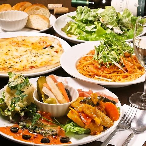 【24時間営業】築地直送の海の幸に旬の食材…ドレッシングも手作りの本格イタリアン♪