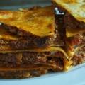 料理メニュー写真メキシカンピザ チリミートのケサディア