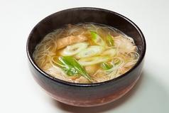 《限定10食》油かすそうめん(温)、《限定10食》油かす韓国式うどん(温)