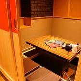 足を延ばしてお寛ぎ頂ける掘りごたつ式個室も完備。