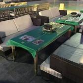 ◆屋上ビアガーデン◆ソファー席が新登場♪開放的なビヤガーデン空間を、心ゆくまでお楽しみください!席のみ予約OK。お電話でご予約ください。