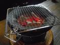 七輪でじっくりと焼くお肉や海鮮のおいしさは別格です。ごゆっくりとご堪能ください。