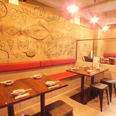 流行りのカフェのようなおしゃれなデザインの壁紙