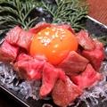 料理メニュー写真特選 宮崎牛たたきユッケ風