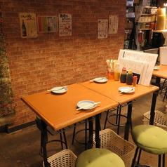 【4名様席】ゆったり座れるテーブル席