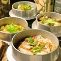 料理メニュー写真釜飯各種(あさり、とり、金目鯛、牡蠣)