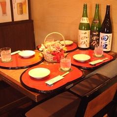 雰囲気自慢のテーブル席