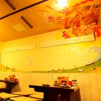 店内の壁には子供たちの絵が書いてあります!