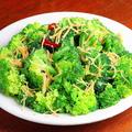 料理メニュー写真貝柱とブロッコリーの炒め