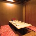 掘りごたつ席の半個室はプライベート感をもってお過ごしいただけます♪