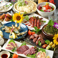 モツ焼き、餃子フォンデュ、サムギョプサルはコースのメインでお選び頂けます。お気軽にお申し付け下さい!