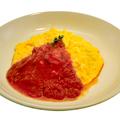 料理メニュー写真オムライス風チキンピラフ