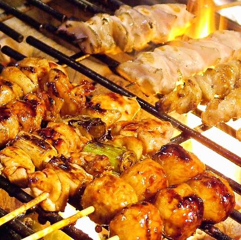「本格炭火焼」炭・タレ・素材にこだわる絶品の串を堪能下さい!宴会コースも充実◎