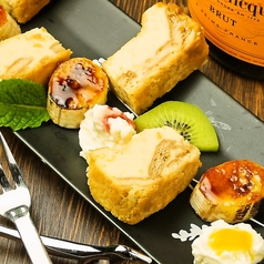 料理メニュー写真自家製パルメザンチーズケーキ