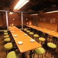 【団体様向け】テーブル席をつなげて、宴会にもオススメな団体席