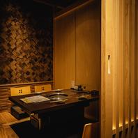 [個室]デートや接待、特別な記念日に最適なお席を完備