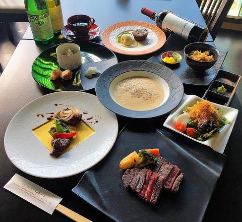 A,TAKAMI飛騨牛【イチボorランプ】ステーキディナーコース