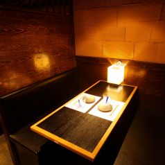 テーブル2名席