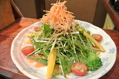 料理メニュー写真京水菜と蒸し鶏のサラダ・季節の温野菜せいろ蒸し