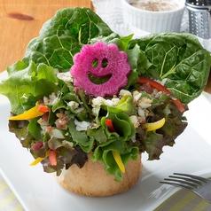 料理メニュー写真チーズたっぷり!ISSAのシーザーサラダ ~花束仕立て~