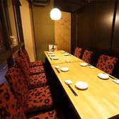 14名様まで対応可能な個室。気の合う仲間同士や、会社の飲み会など、様々なシーンでご利用頂けます。