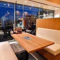 ◆窓際の半個室席◆