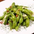 料理メニュー写真枝豆でペペロンチーノ