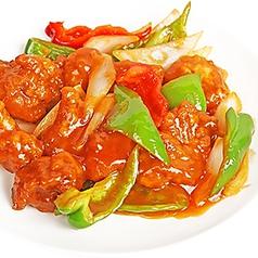 酢豚/ニラとホルモン炒め/砂肝とニンニクの炒め