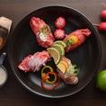素材にこだわる炙り肉寿司は炙ると旨味が倍増◎シンプルな料理なので素材がいきます!是非一口でお召し上がりください。お肉の旨味が口中に溢れます◎