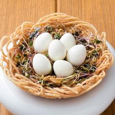 料理メニュー写真不思議なうずらEGG ~鳥の巣仕立て~